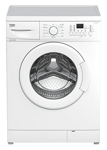 Beko WML 51431 E Waschmaschine Frontlader / A+ / 1400 UpM / 5 kg / weiß / Großes Programmauswahl / Nur 45 cm Tiefe / Multifunktionsdisplay / Express - Programm / Mengenautomatik / Unterbaufähig