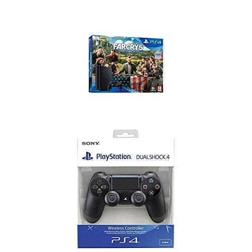 Playstation 4 (PS4) - Consola de 1 TB + Far Cry 5 + Dualshock 4 V2 Mando...