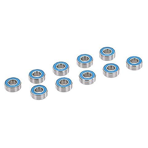 Gazechimp Set 10pcs Roulements à Billes en Acier Accessoires de Rechange pour 1/10 AXIAL SCX10 Voiture RC - 5x11x4mm