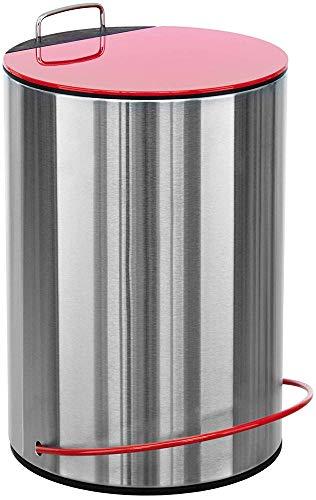 Sanwood MATHIS Bad Mülleimer mit höhenverstellbarem Griff 5L - Kosmetikeimer für Badezimmer und...