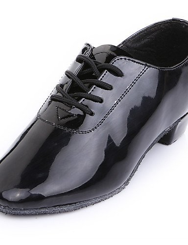 ShangYi Chaussures de danse (Noir) - Non personnalisable - Talon plat - Similicuir - Moderne