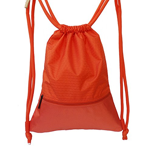 Ome&qiumei borsa a tracolla borsa donna body fitness zaino grande capacità sacchetto impermeabile big orange