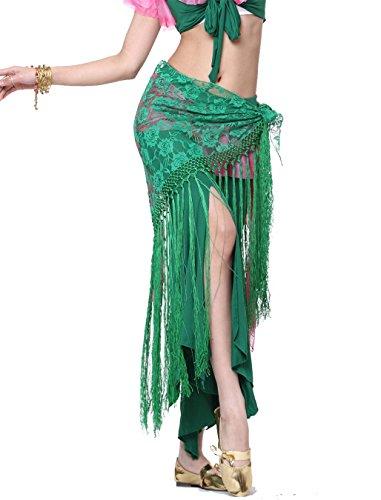 Tanzen Accessories Triangle Gürtel Kostüm Bauchtanz Hüfttuch Rock Lace Tassels Wrap