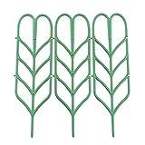 PovKeever Pianta che cresce supporto, a forma di foglia di plastica da giardino traliccio porta fiore supporto per piante rampicanti in vaso Vines