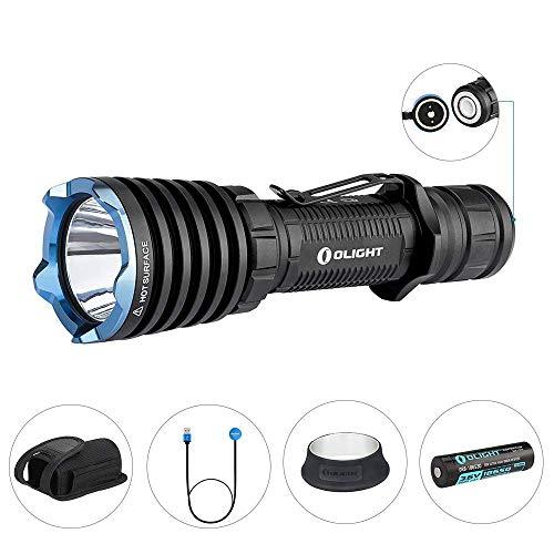 OLIGHT Warrior X LED Taschenlampe 2000 Lumen, 560 Metern Leuchtweite, Taktische Taschenlampen, wiederaufladbare Taschenlampe mit MCC-Magnetladekabel, 18650 3000mAh Batterie enthalten