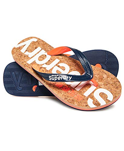 Superdry Damen Glitter Cork FLIP Flop Zehentrenner, Mehrfarbig (Dark Navy/Optic White My5), 40/41 EU -