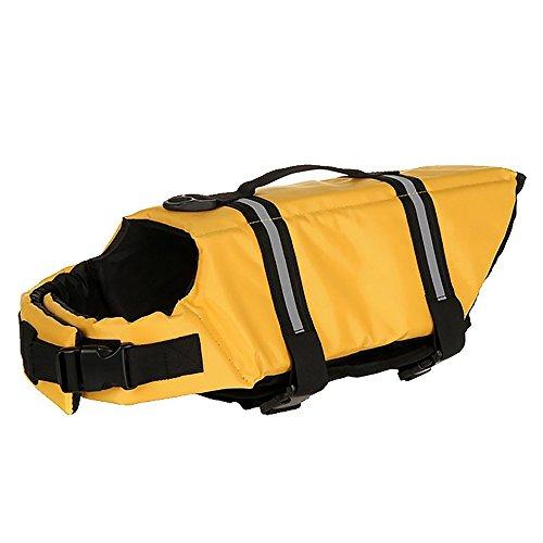 tungsweste Pet Swimsuit Saver Preserver Schwimmweste Schwimmweste mit Reflektierender Streifen für Small Medium Large Hunde Six Design (Haifisch-kopf-kostüm)