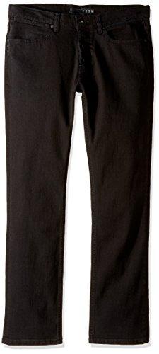 Herren Jeans Hose KR3W K Slim Denim Jeans Jet Black