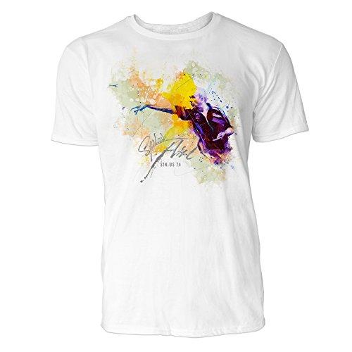 s Art ® Herren T Shirt ( Weiss ) Crewneck Tee with Frontartwork (Pfeil Anzug-kollektion)