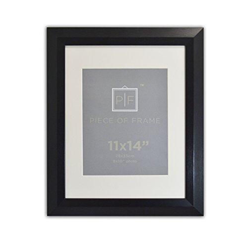 Golden State Art, 11x 14gebürstet schwarz Farbe Bilderrahmen, mit elfenbeinfarbenem Matte für 8x 10Bild & Echtglas