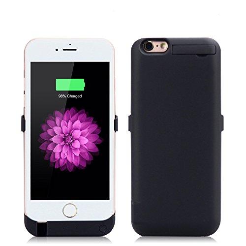 iPhone 6 / iPhone 6S Coque Batterie Étui 10000mAh Ultra Mince External Rechargeable de Chargeur Portable de Secours Externe Chargeur Housse Power Case Prolonger de Protection pour iPhone 6 / iPhone 6S Noir