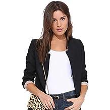 ZKOO Chaqueta Mujer Americana Blazer Traje Blazer De Slim Fit Elegante  Oficina Femenina Capa Cazadoras Abrigos b22238ac697a