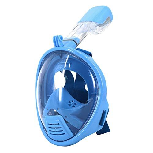 Supstar Tauchermaske schnorchelmaske vollmaske mit 180 Grad Sicht für Kinder und Erwachsene unterstützen die Installation von Sport Kameras Anti-Beschlag Wasserdicht Anti-Leak-XS/Blau