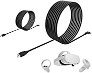 (2 Set) Oculus Link Cable Compatible for Oculus Quest 2 Link Cable 16ft and 10ft (5Gbps) USB 3.2 Gen 1 High Tr