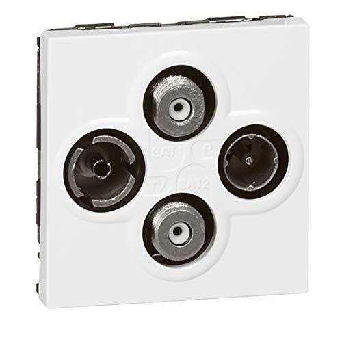 prise - tv-r-sat + sat - 2 modules- legrand mosaic 078794