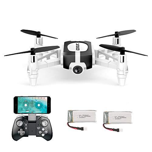 GoolRC Mini Drohne T700 mit 720P FPV Kamera,RC Quadrocopter ferngesteuert mit automatische Höhenhaltung, Headless Modus, WiFi Kamera, One Key Start/Landung, App Funktion für Anfänger und Kinder