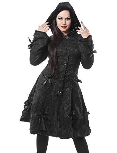 Poizen Industries -  Cappotto  - Donna Black Rose Small