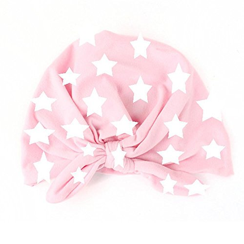 zolimx-baby-toddler-kids-boy-girl-bowknot-lovely-print-five-star-soft-hat-pink