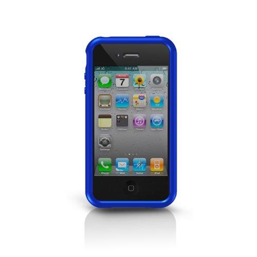 Marware SportGrip Edge Silikonrahmen für Apple iPhone 4 blau Marware Sport Grip Für Iphone