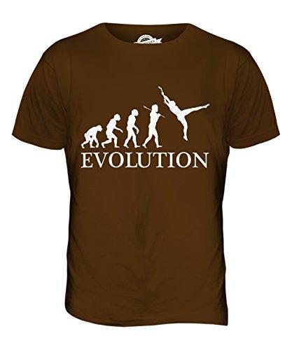 CandyMix Trapez Sport Evolution Des Menschen Herren T Shirt Braun