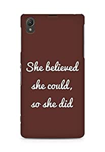 AMEZ she believed she could so she did Back Cover For Sony Xperia Z1 C6902
