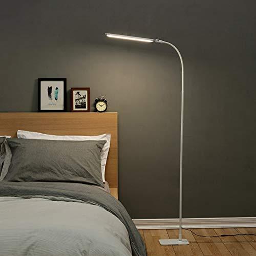 LINA Lampadaire 10W LED, gradation tactile, col de cygne flexible, lampe de lecture pour enfant, lampe de bureau à coucher, 50x17.61x150cm, blanc ivoire