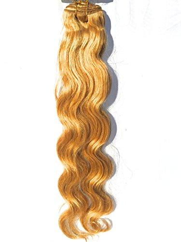 Tissage-extension - Tissage Brésilien couleur 27 Blond vénitien naturel Remy - 16 pouces