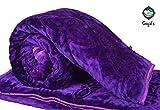 Goyal's Superior Quality Mink Single Bed Blanket Embossed - Purple