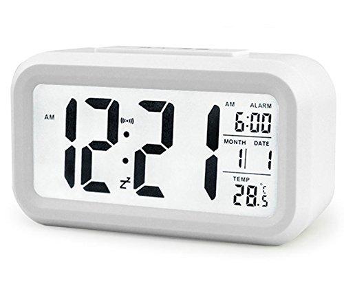 Multifunktions - Digitale Wecker,große HD-Display,Snooze,Tischuhr mit,Smart-Soft Licht,Progreßive Alarm,Datumsanzeige,Temperatur-Anzeige, einfache Einstellung, einfach für die Reise
