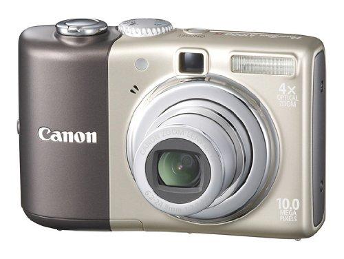 Canon PowerShot A1000 IS Digitalkamera (10 Megapixel, 4-fach opt. Zoom, 6,4 cm (2,5 Zoll) Display; Bildstabilisator) braun