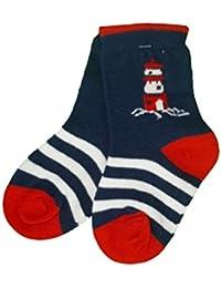 Baby Bio Socken blau mit Leuchtturm Gr.62/68