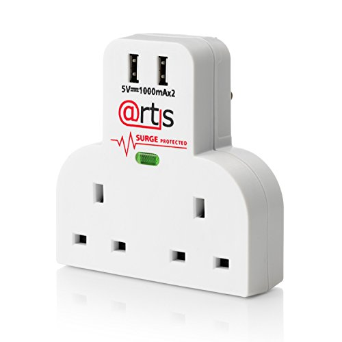 Artis 4 Way Plug Mains Switch Extension Adapter Surge for sale  Delivered anywhere in UK