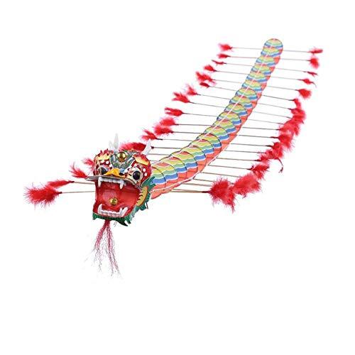 SECVBG 4 M Chino Tradicional Dragón Cometa Plástica Plegable Niños Juguetes De Decoración Al Aire Libre Kite Kids Divertidos Juguetes Al Aire Libre