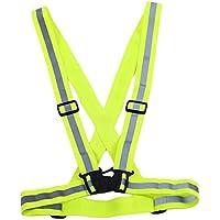 Lalang Gilet Veste de sécurité réfléchissante pour Courir, Jogging, Vélo, Marcher, Mototourisme, Réglable haute visibilité