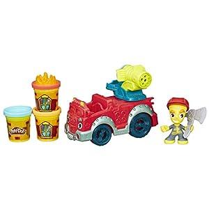 Play-Doh - Camión de bomberos con botes de plastilina (Hasbro B3416EU4)
