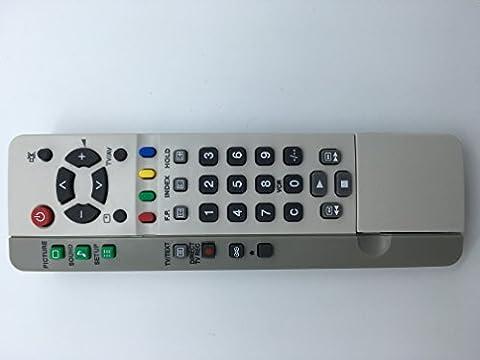 Vinabty Ersatz Fernbedienung EUR511200 EUR 511200 fit für Panasonic TX21MD4 TX21MK1M TX24DX1 TX25MD4 TX25MK1 TX28DK1 TX28DK2 TX28DT2 TX28DT2/E TX28LD4DP TX28MD4 TX28MK1M TX28PK1 TX28PK10