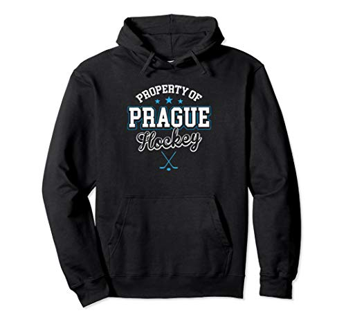 Property Prague Czech Republic Hockey Flag Supporter Gift Pullover Hoodie