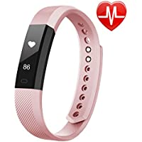 LETSCOM Fitness Tracker HR, Fitness Tracker Watch with Heart Rate Monitor, Slim Touch Screen and Wristbands, Wearable Waterproof Activity Tracker Pedometer for Kids Women and Men