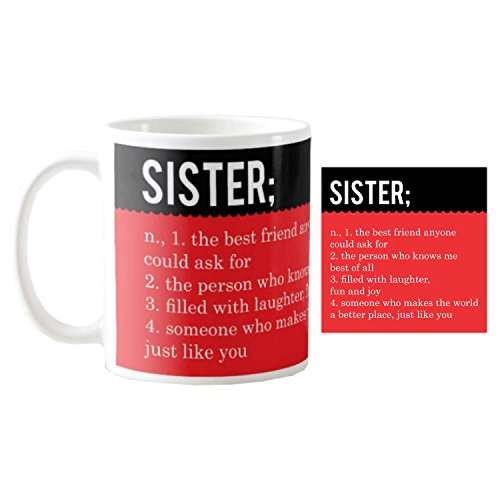TYYC Birthday Gifts For Sister Mug With Coaster Set Of 2