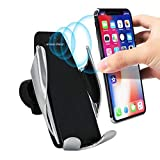 Auto Snap Car Mobile Holder, Wireless Car Charger Automatic Clamping Fast Charging Phone
