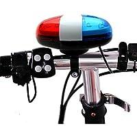 Vovotrade® 6 LED 4 Sonidos Timbre de Campana Luz del Coche Policía Brillante Advertencia Ligero Trompeta para Bicicleta Bici Motocicleta