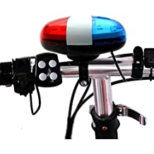 Vovotrade - 6 LED 4 Sonidos Timbre de Campana Luz del coche Policía Brillante Advertencia Ligero Trompeta Para Bicicleta Bici Motocicleta