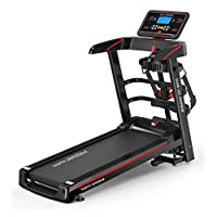 Marshal Fitness Home Use Deluxe Motorized Treadmill Exercise Machine Gym Equipment Treadmill with Massager and Dumbbell-Foldable-MFLA-131-4WAY