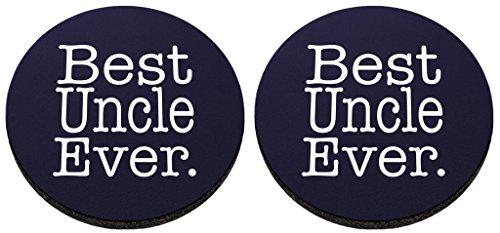 Best Uncle Ever Untersetzer Uncle Geschenke Multi Pack Gummi Drink Cup Untersetzer navy