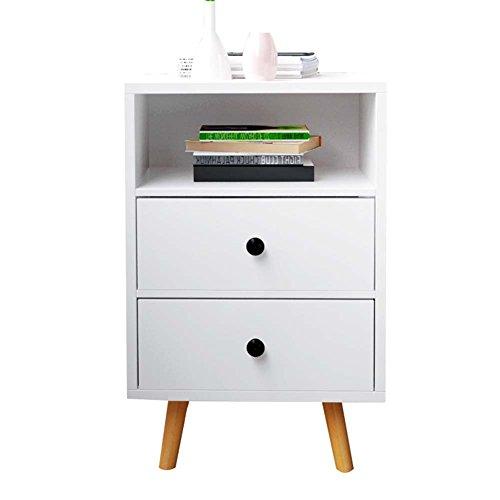 Table de chevet JCOCO Blanche à Base de Bois, avec Rangement pour tiroir et étagère, pour casier de Chambre à Coucher (Taille : 40 * 30 * 61.2cm-B)