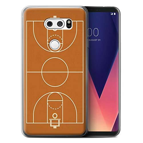 eSwish Gel TPU Hülle/Case für LG V30/V30+ / Basketball Muster/Amerikanisch Sportplatz Feld Kollektion Usa-basketball-mobile