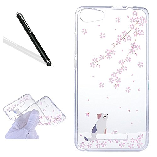 wiko-lenny-2-silicone-casewiko-lenny-2-tpu-caseleeook-clear-slim-fit-soft-flexible-funny-cherry-flow