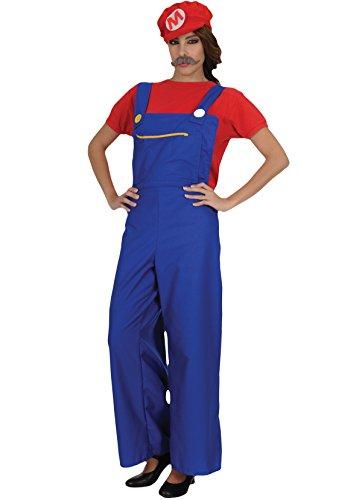 Unbekannt Erwachsener Damen Super Mario Klempner - Game Boy Kostüm