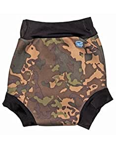 Splash About Kids Reusable Swim Happy Nappy - Camo Khaki, Large, 6-14 Months