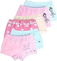 LeQeZe Bragas para niña Paquete de 6 algodón Calzoncillos para Niñas 2-11 años
